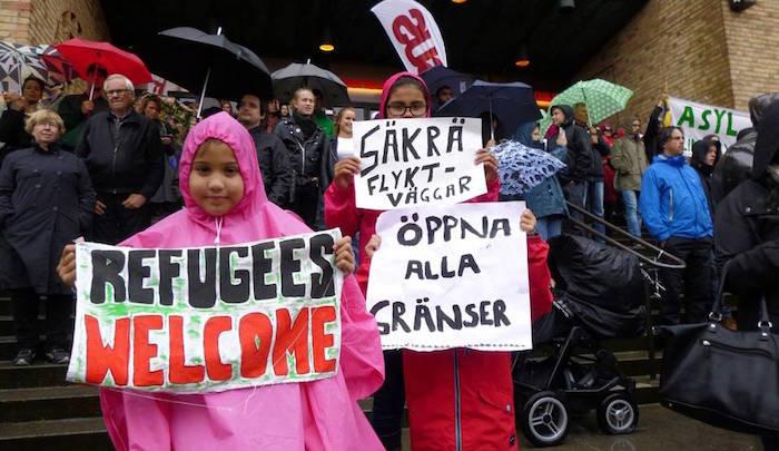 Sweden-refugees-welcome