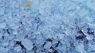 Frozen broken glass - I just like it